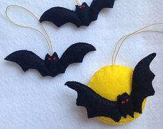 Handmade Felt Halloween Ornament by FELTsofties on Etsy