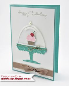 Splotch Design - Jacquii McLeay Independent Stampin' Up! Demonstrator: Happy Birthday with a Cherry on Top