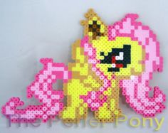 My Little Pony Silly Filly Perler Ponies: by ThePerlerPony on Etsy