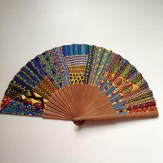 Hand Held Fan, Hand Fan, Fans, Artsy, Japanese, Drawings, Clothes, Shoes, Painted Fan
