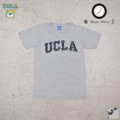 "Upscape Audience UCLA ""UCLA""日本製ボディクラックプリント半袖Tシャツ - 【 Audience 】"