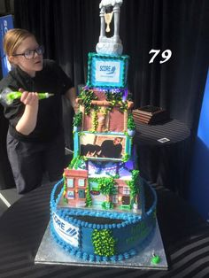 This amazing cake was made for Score of Lancaster Country celebrating their 50th anniversary. This cake was done with buttercream and Fondant!