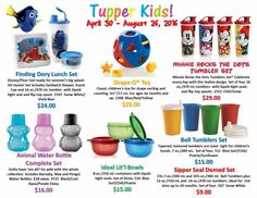 MelissaKendall.my.tupperware.com  Check out these great kids pieces