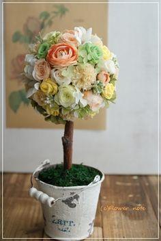 【今日の贈花】出産のお祝いは可愛いトピアリーで|Flower note の 花日記