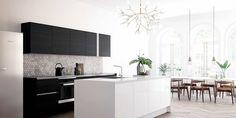 VH-7 Køkken i sort og hvid