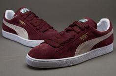 Puma Suede Classic - Mens Select Shoes - Team Burgundy-White-Team Gold