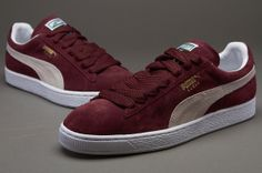 Puma Suede Classic - Mens Select Shoes - Team Burgundy-White-Team Gold