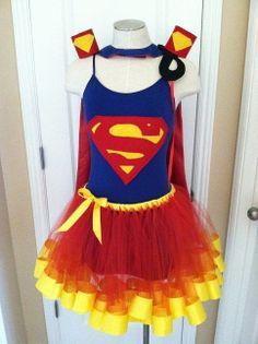 Runners Superman Super Hero DC Comics Costume Cape Mask Cuffs Tutu