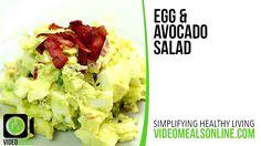 Egg & Avocado Salad - VideoMealsOnline
