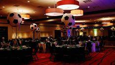 Huge soccer ball centerpieces