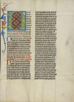 Decorated Initial D; Master Michael (Austrian, active about 1420 until the mid-15th century); Vienna, Austria; about 1420 - 1430; Tempera colors, gold leaf, and ink on parchment; Leaf: 41.9 x 31 cm (16 1/2 x 12 3/16 in.); Ms. Ludwig V 6, fol. 153; J. Paul Getty Museum, Los Angeles, California