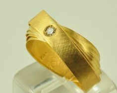 22K Solid Gold Handcrafted Ring No. 012-6 by DorettaTondi on Etsy