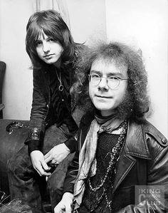 Greg Lake and Robert Fripp, King Crimson, 1970.