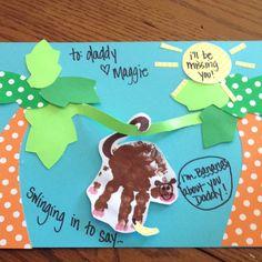 Handprint monkey card