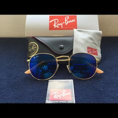 sell my ray ban sunglasses  Ray-Ban Round metal flash lenses RB3447 112/4L 50