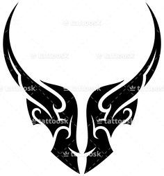 Tribal Bull Tattoo ❥❥❥ https://tattoosk.com/tribal-bull-tattoo-2#123