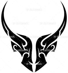Tribal Bull Tattoo ❥❥❥ https://tattoosk.com/tribal-bull-tattoo-2#123