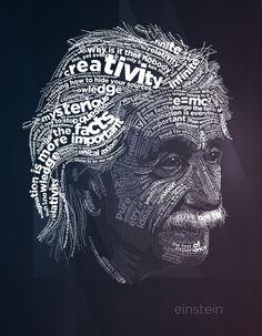 Typography / Albert Einstein