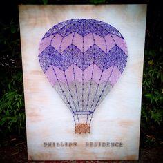 Hot air balloon string art by Heartstrings7