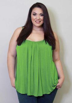 Plus Size Tops | Pretty Cami | Swakdesigns.com