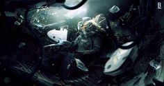 ArtStation - Weyland Yutani's shuttle failed to escape from LV-426, Benoit Godde