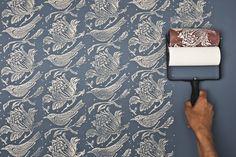 Dipingere su pareti, legno, stoffa con rulli intagliati   bigodino.it