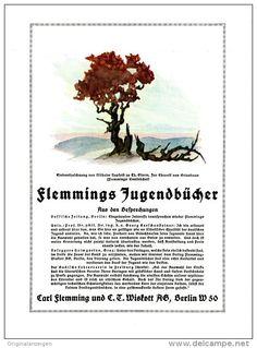 Original PROSPEKT 1924 - 2-Seiter - FLEMMINGS JUGENDBÜCHER- CARL FLEMMING / S. T. WISKOTT AG - BERLIN -ca. 150 x 200 mm