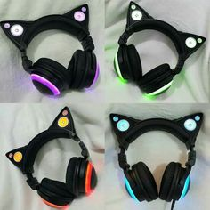 Details about Gaming Headset Stereo LED Headphones Microphone Mic PC Laptop For Cat Ear Gaming Mic Headphones LED Speakers Music Audio Lights USB Rechargeable Cat Headphones, Wireless Headphones, Wireless Speakers, Accessoires Iphone, Usb, Purple Cat, Things To Buy, Stuff To Buy, Gaming Headset