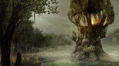 Gothic 4 trees forests fire artwork fantasy art concept widescreen desktop mobile iphone android hd wallpaper and desktop. Wallpaper Free, Gothic Wallpaper, Batman Wallpaper, Widescreen Wallpaper, City Wallpaper, Wallpapers, Tree House Wallpaper, Forest Wallpaper, Fantasy Forest