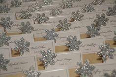 Christmas Wedding Name Cards