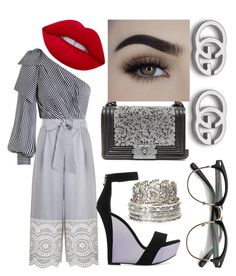 """""""Untitled #406"""" by denis-bogdan-siminiuc on Polyvore featuring Zimmermann, Balmain, Chanel, Gucci, Charlotte Russe and Lime Crime"""