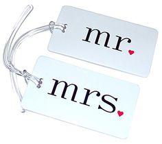 Mr and Mrs Luggage Tags WEDDING HONEYMOON LUGGAGE TAGS ** Visit the image link more details. Note:It is affiliate link to Amazon.