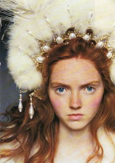 Lily Cole for Vogue 'The House on the Hill' photos by Arthur Elgort.