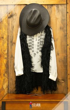 de007846f79 Beautiful western outfit for fall. Roper blouse with black Panhandle vest