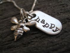 Personalized Hand Stamped Sterling Silver by sTuckintheCoop, $43.00