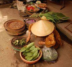 Vietnam. Conical hat.