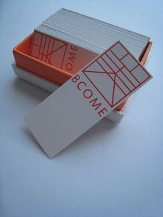 BCOME Design Studio Business Cards Name Visit Carte De