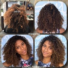 It was such an honor to meet who was in the olympics and flew in from France for a haircut. Had to cut some of the damaged hair and hydrate to bring her curls back to life. Dyed Curly Hair, Layered Curly Hair, Curly Hair Care, Curly Girl, Natural Curls, Natural Hair Styles, Long Hair Styles, Hair Inspiration, Hair Inspo