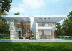 Nowoczesny, piętrowy dom jednorodzinny.