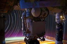 """""""Star Trails"""". Looking at Earth from the International Space Station"""