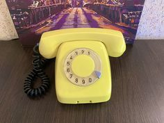 Rare Vintage yellow phone, Old rotary phone, Poland phone, Circle dial rotary phone, Vintage phone, Old Dial Desk Phone, Jaskier 74 Rustic Vintage Decor, Pay Attention To Me, Retro Phone, Vintage Phones, Beeswax Candles, Vintage Yellow, Rotary, Telephone, Landline Phone