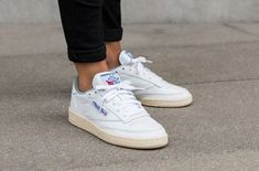 newest 38c0d 97dfb REEBOK CLUB C 85 VINTAGE - WHITE, ROYAL amp TIN GREY SNEAKERS IN ALL
