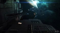 Spaceship Space Station - Eve Online #Spaceships VistaLore daily pics of beauty & imagination GameScapes screenshots gaming games Images pictures Sci-Fi Science Fiction