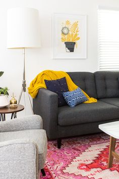 Take a tour of blogger Sarah Hearts' colorfully crafted Venice, California rental bungalow.