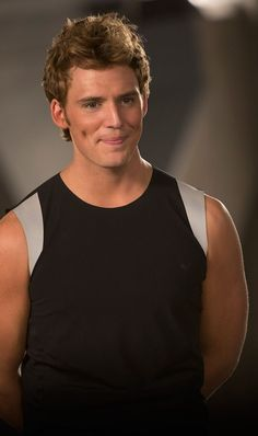 Finnick Odair (Sam Claflin) - Catching Fire | THOSE DIMPLES. MM MM MM... (In case you couldn't tell, dimples on guys are kind of my...thing...)