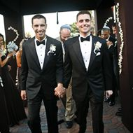 It's not that same sex marriage is a trend, but same sex couples are definatly having more extravagant weddings!
