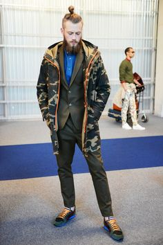 SPRING 2014 MENSWEAR Ami - male top knots and camo are my favorites