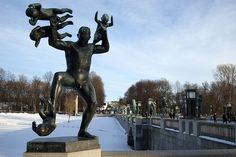 Oslo's Frogner Park in Winter | No Apathy Allowed