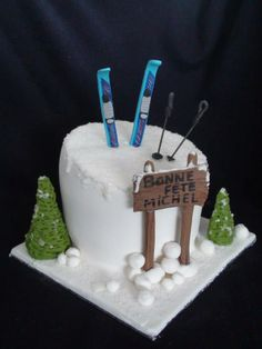 ski cake- gâteau ski creation maman gateau