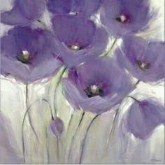 Couleur Gris et violet/mauve Purple Art, Shades Of Purple, Purple Flowers, Purple Poppies, Art And Illustration, Flower Painting Canvas, Canvas Art, Flower Paintings, Flower Canvas